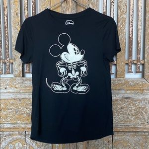 DISNEY MICKEY SKELETON GLOW IN THE DARK T M